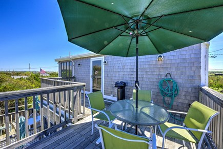 East Sandwich Cape Cod vacation rental - Deck with grill and outdoor seating