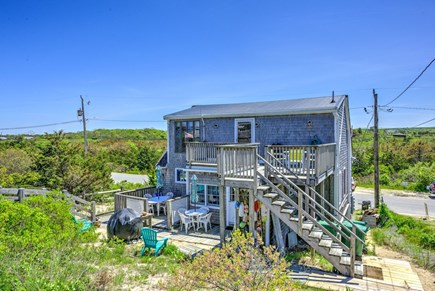 East Sandwich Cape Cod vacation rental - Access stairway to upper level unit and parking area