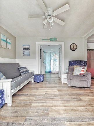 South yarmouth Cape Cod vacation rental - Living room has a pull out futon and recliner with 40 inch TV