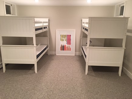 Chatham Cape Cod vacation rental - Basement bunk room with 2 sets of bunks