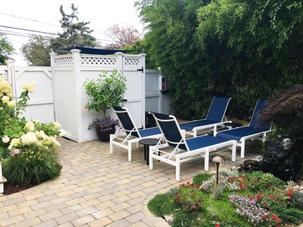 Provincetown, Cape 50 Cape Cod vacation rental - Seating area near outdoor shower