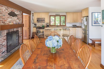 Chatham Cape Cod vacation rental - Seating at the dinning table for 8 guests.