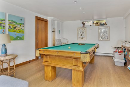 Chatham Cape Cod vacation rental - Play room area with flat screen TV and pool table.