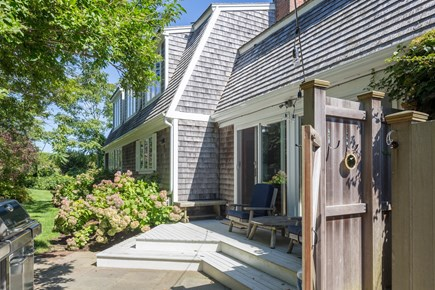 Chatham Cape Cod vacation rental - Patio area outback for grilling, and for an outdoor shower.