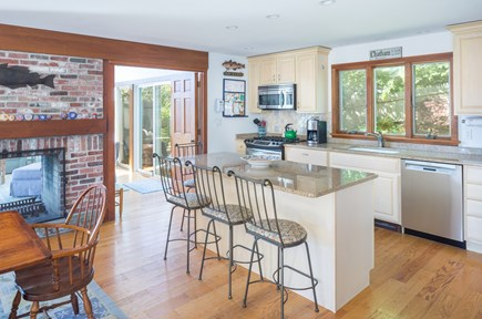 Chatham Cape Cod vacation rental - Beautiful and spacious kitchen with island seating.