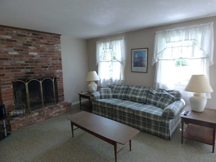 Dennis Cape Cod vacation rental - Living room with queen size pullout couch