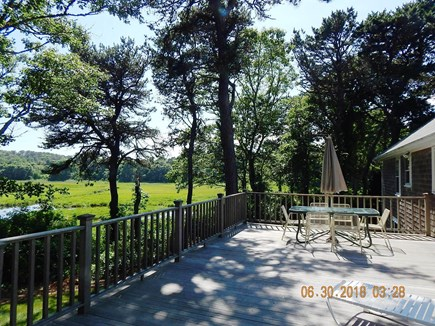 West Chatham Cape Cod vacation rental - Expansive deck with beautiful marsh views