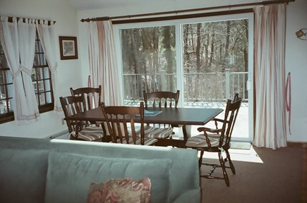 West Chatham Cape Cod vacation rental - Sunny dining area w/sliders to the deck