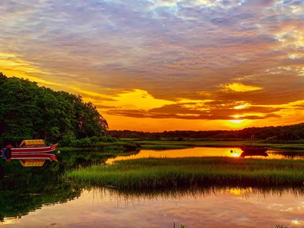 Dennis Port Cape Cod vacation rental - Sunsets in town