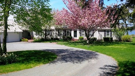North Chatham Cape Cod vacation rental - Driveway approach to front of house