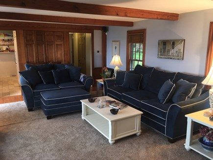 North Chatham Cape Cod vacation rental - Comfy couches that will fit the whole family and wet bar