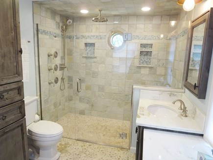 North Chatham Cape Cod vacation rental - Updated master bath with rainhead, spray jets and handheld