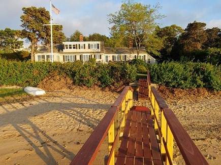 North Chatham Cape Cod vacation rental - The house and sandy beach from the new dock