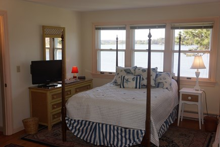 North Chatham Cape Cod vacation rental - Double bed bedroom 1 with view of the water