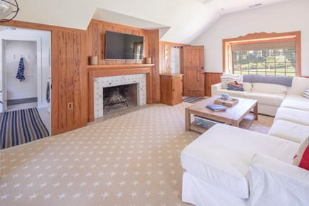 Chatham Cape Cod vacation rental - Large screen TV and lots of light!
