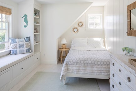 Chatham Cape Cod vacation rental - Guest bed overlooking back yard.
