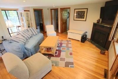 Wellfleet Cape Cod vacation rental - Living Room w Fireplace