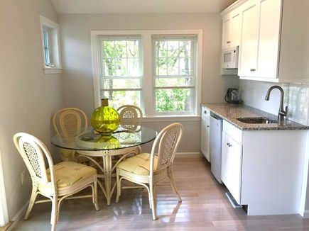 Hyannis Cape Cod vacation rental - Upper level wet bar and dining area.