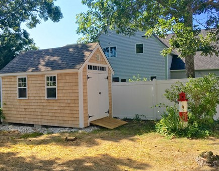 Hyannis Cape Cod vacation rental - Garden shed full of lawn games, beach toys and beach chairs