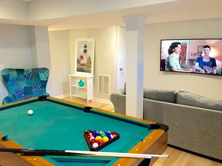 Hyannis Cape Cod vacation rental - Lower level game room.