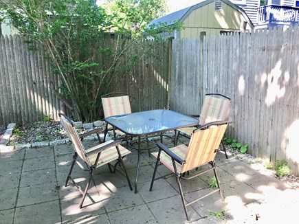 Hyannis Cape Cod vacation rental - Al fresco dining in private back yard