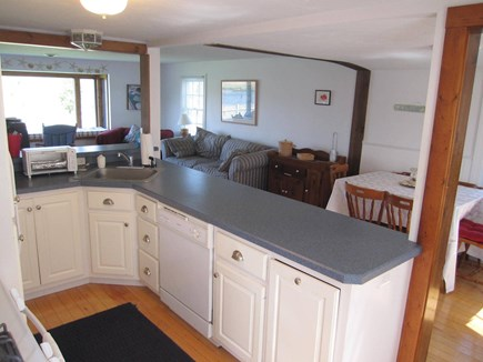 Centerville Cape Cod vacation rental - Open concept kitchen, dining and living areas