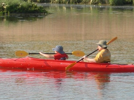 Centerville Centerville vacation rental - Tandem kayak on the property can be launched from the backyard