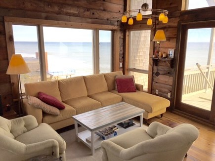 South Wellfleet on the Ocean Cape Cod vacation rental - Living room with stunning water views