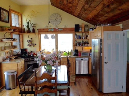 South Wellfleet on the Ocean Cape Cod vacation rental - Dining area with expandable table to seat 12