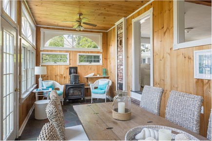 Chatham Cape Cod vacation rental - Great four season porch for dining and relaxing. Door to yard.