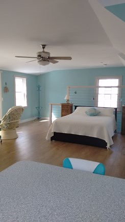 Wellfleet Cape Cod vacation rental - Queen bed viewed from small eating area