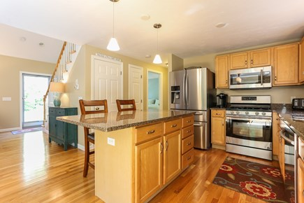 East Orleans Cape Cod vacation rental - Pristine kitchen with granite counters and island.