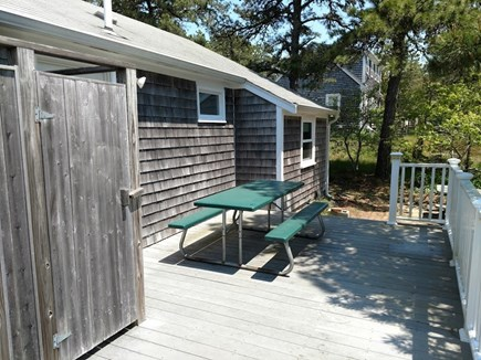 South Chatham Cape Cod vacation rental - Outdoor Shower and beck deck