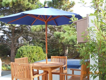 Eastham Cape Cod vacation rental - Alfresco dining on side deck