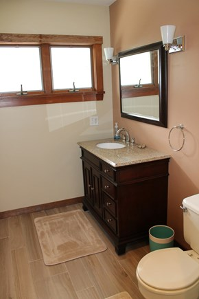 Mashpee Cape Cod vacation rental - Master bathroom (has tub/shower)