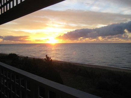Mashpee Cape Cod vacation rental - Sunset from master bedroom
