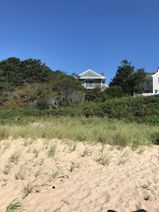 Mashpee Cape Cod vacation rental - View of house from the private beach