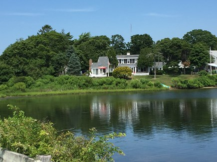 Falmouth Heights Cape Cod vacation rental - House view from pond
