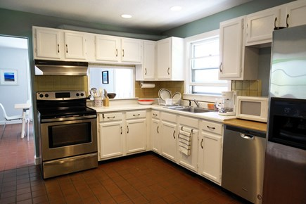 Truro Cape Cod vacation rental - Modern kitchen with stainless steel appliances