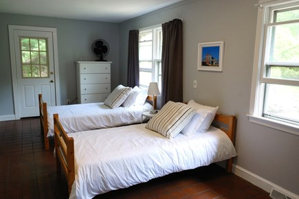 Truro Cape Cod vacation rental - Upstairs bedroom with 2 twins will have AC unit