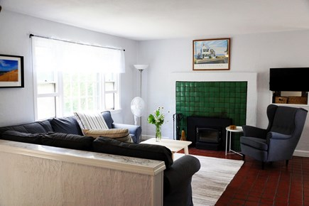 Truro Cape Cod vacation rental - Living room with TV