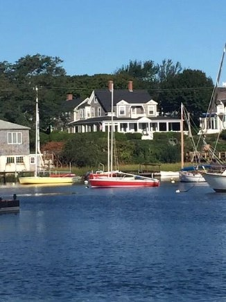 Harwich Port Cape Cod vacation rental - View of Beach Lodge from Wychmere Harbor