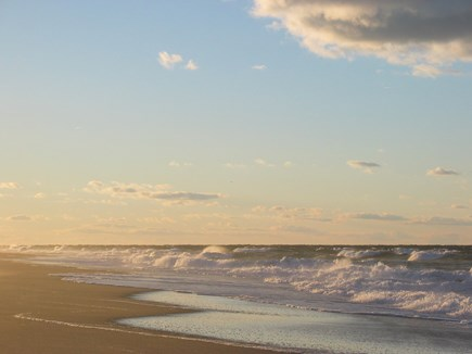 East Sandwich Cape Cod vacation rental - As the waves come rolling in at Sunset.