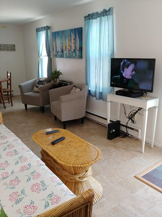 East Sandwich Cape Cod vacation rental - Comfortable Seating with Flat Screen TV, Cable & Internet