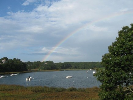 South Chatham Cape Cod vacation rental - Taylor Pond with a lucky rainbow!