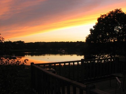South Chatham Cape Cod vacation rental - Deck view at sunset