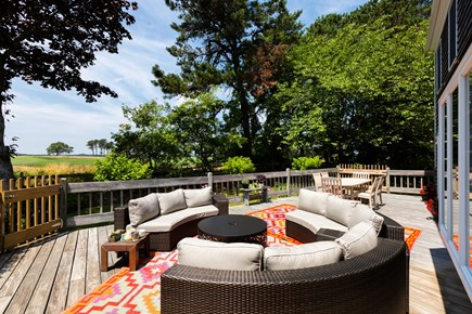 Chatham Cape Cod vacation rental - Enclosed back deck with grill and outdoor seating