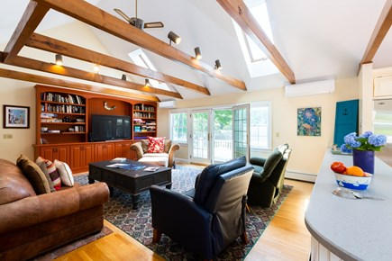 Chatham Cape Cod vacation rental - Open family room with deck access and 50 inch flat screen TV
