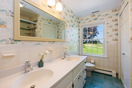 Chatham Cape Cod vacation rental - Upstairs full bath with large walk in shower