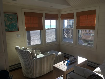 Plymouth MA vacation rental - Living Room with Ocean View on the sand!